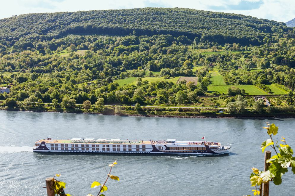 Schwimmendes Hotel auf dem Rhein: Die Excellence Princess.