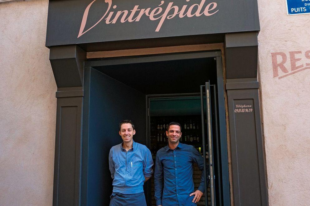 Das Restaurant «Vintrépide» ist das Reich von Küchenchef William Aubert (l.) und Sommelier Eric Jaeggy (r.).