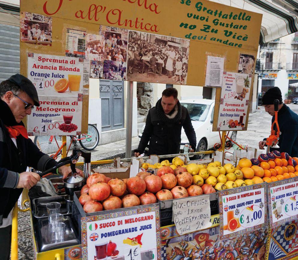 Saft-Verkäufer auf dem Capo-Markt