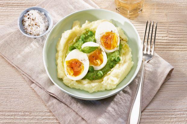 Eier an erbsensauce mit kartoffelstock annemarie - Eier platzen beim kochen ...