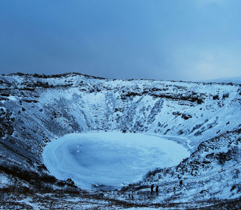 Einmalige Atmosphäre: der erloschene Vulkan «Kerið».