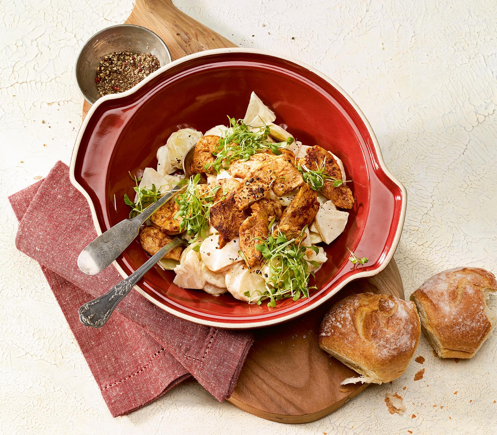 Kartoffel sellerie salat mit senf annemarie wildeisen 39 s for Kochen 4 personen