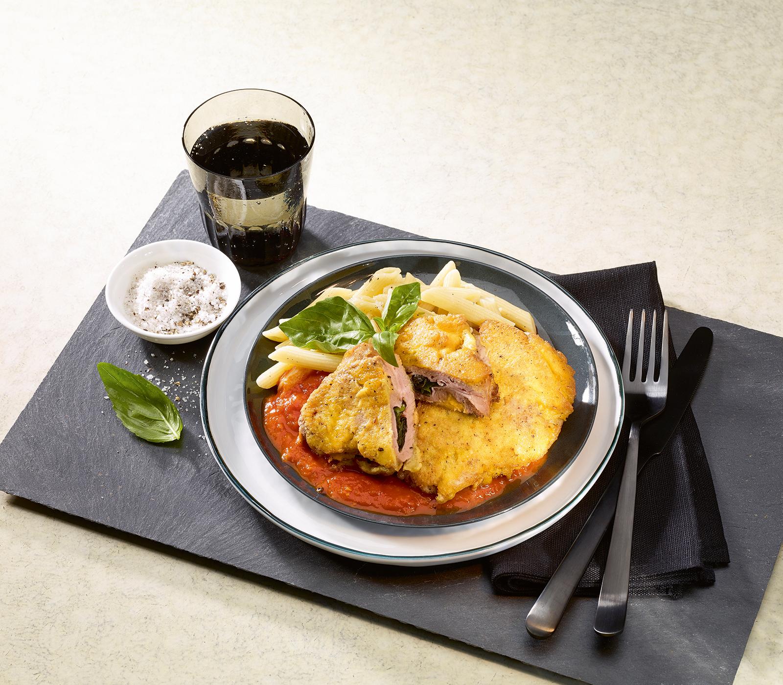 gef llte kalbs piccata mit tomatensauce annemarie wildeisen 39 s kochen. Black Bedroom Furniture Sets. Home Design Ideas