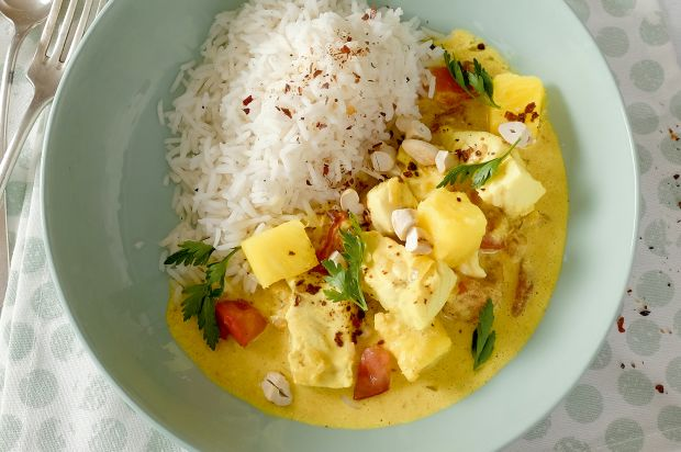 Karibisches Fischcurry