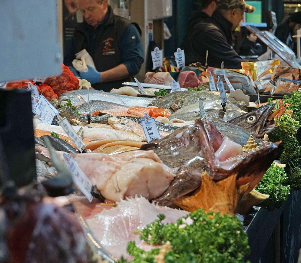 Der Borough Market bietet ein fast verschwenderisch anmutendes Angebot an britischen Spitzenprodukten.