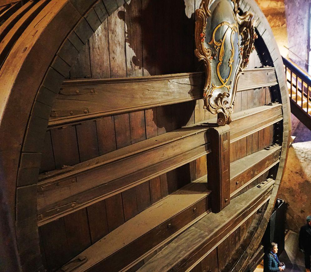 Das grosse Fass im Heidelberger Schloss ist das grösste Holzfass der Welt.