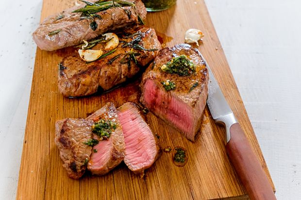 Huftsteaks mit Chimichurri