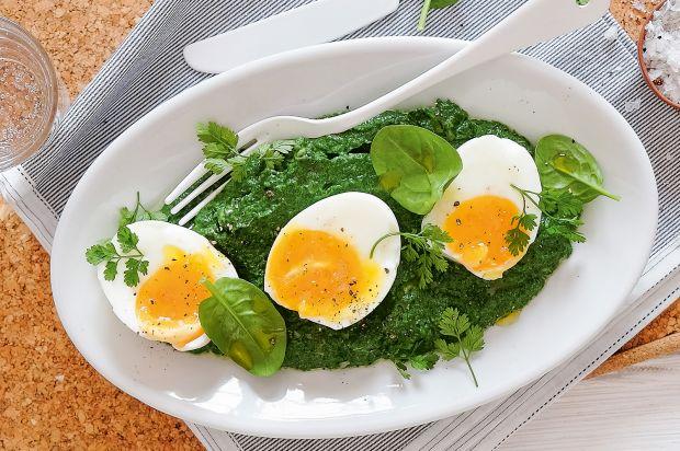 W rziger rahmspinat mit wachsweichen eiern annemarie - Eier platzen beim kochen ...