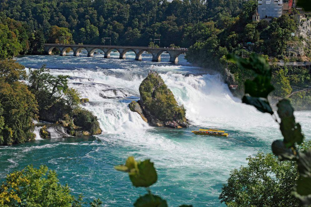 Das Schaffhauserland ist reich an Sehenswürdigkeiten: der imposante Rheinfall