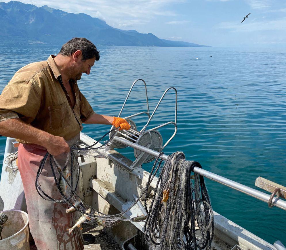 Patrice Brügger, einer der letzten Fischer in der Region Vevey.