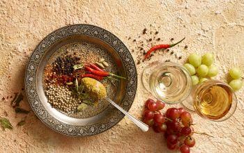 Wein und die exotische Küche