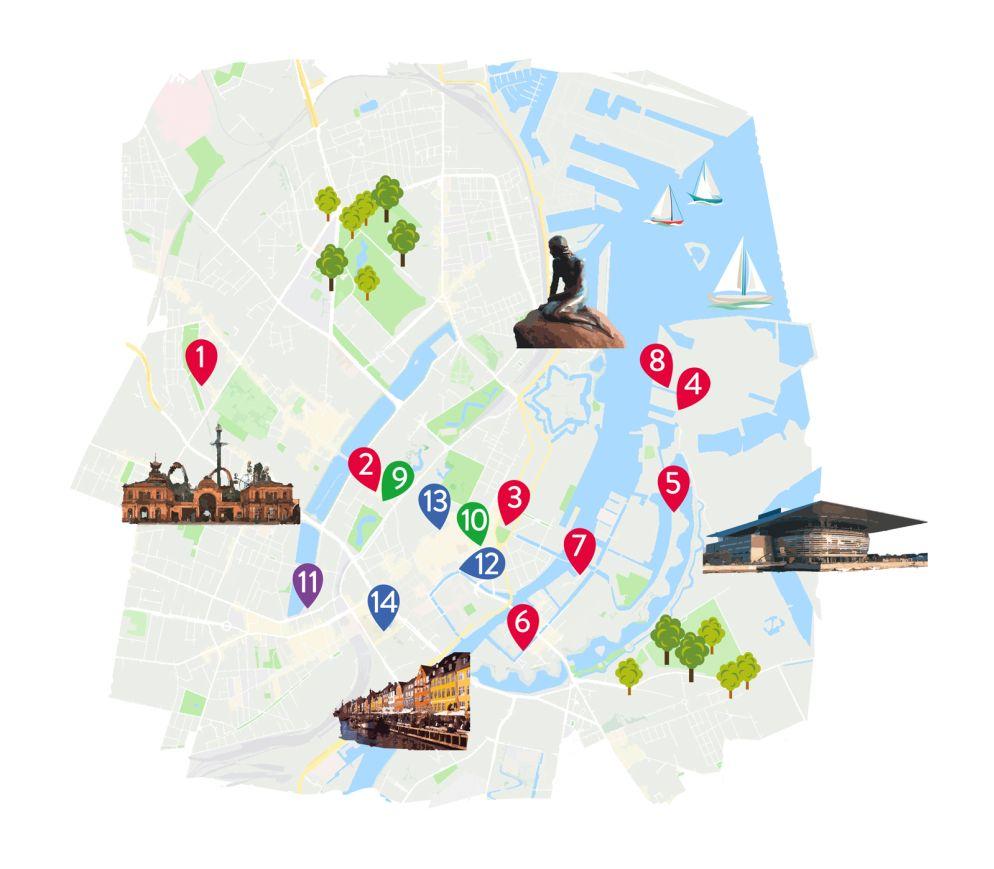 z.B. ab Zürich, mehrmals täglich, Flugzeit ca. 1h 45min.       ÖV: Mit der Copenhagen Card hat man freie Fahrt mit sämtlichen Verkehrsmitteln, Gratiseintritte und viele Vergünstigungen.