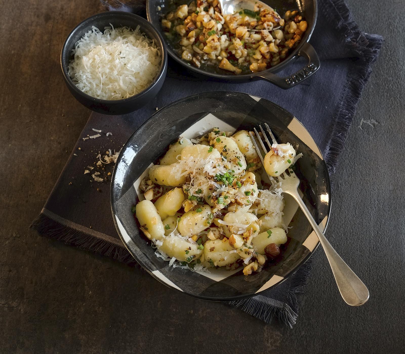 Kartoffel gnocchi an nussbutter annemarie wildeisen 39 s kochen for Kochen 5 personen