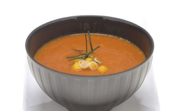 Tomaten-Mango-Suppe