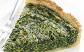 Quark-Ricotta-Quiche mit Spinat
