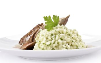 Nussrisotto mit Hasenfilet