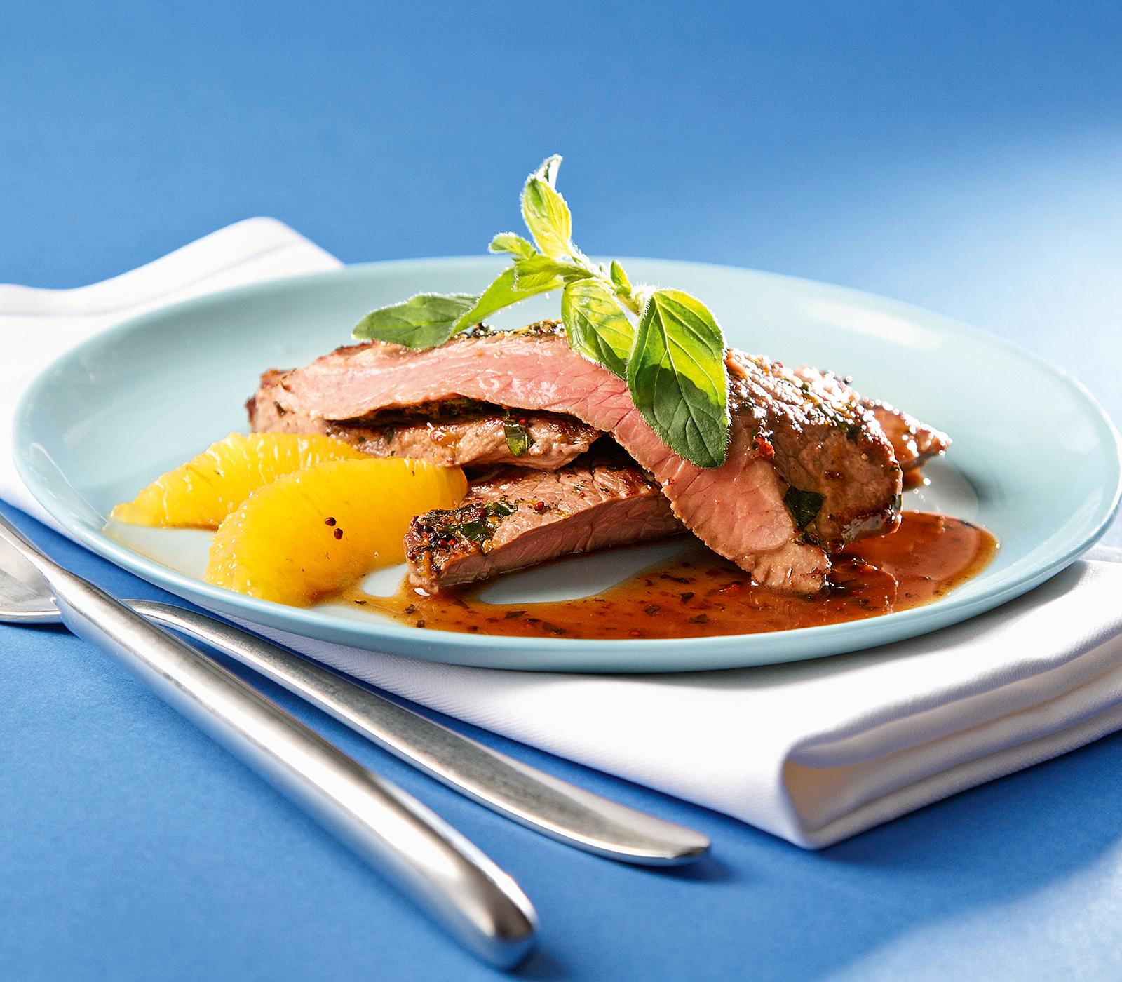 Minuten steaks mit orangen pfeffer marinade annemarie for Kochen ohne salz