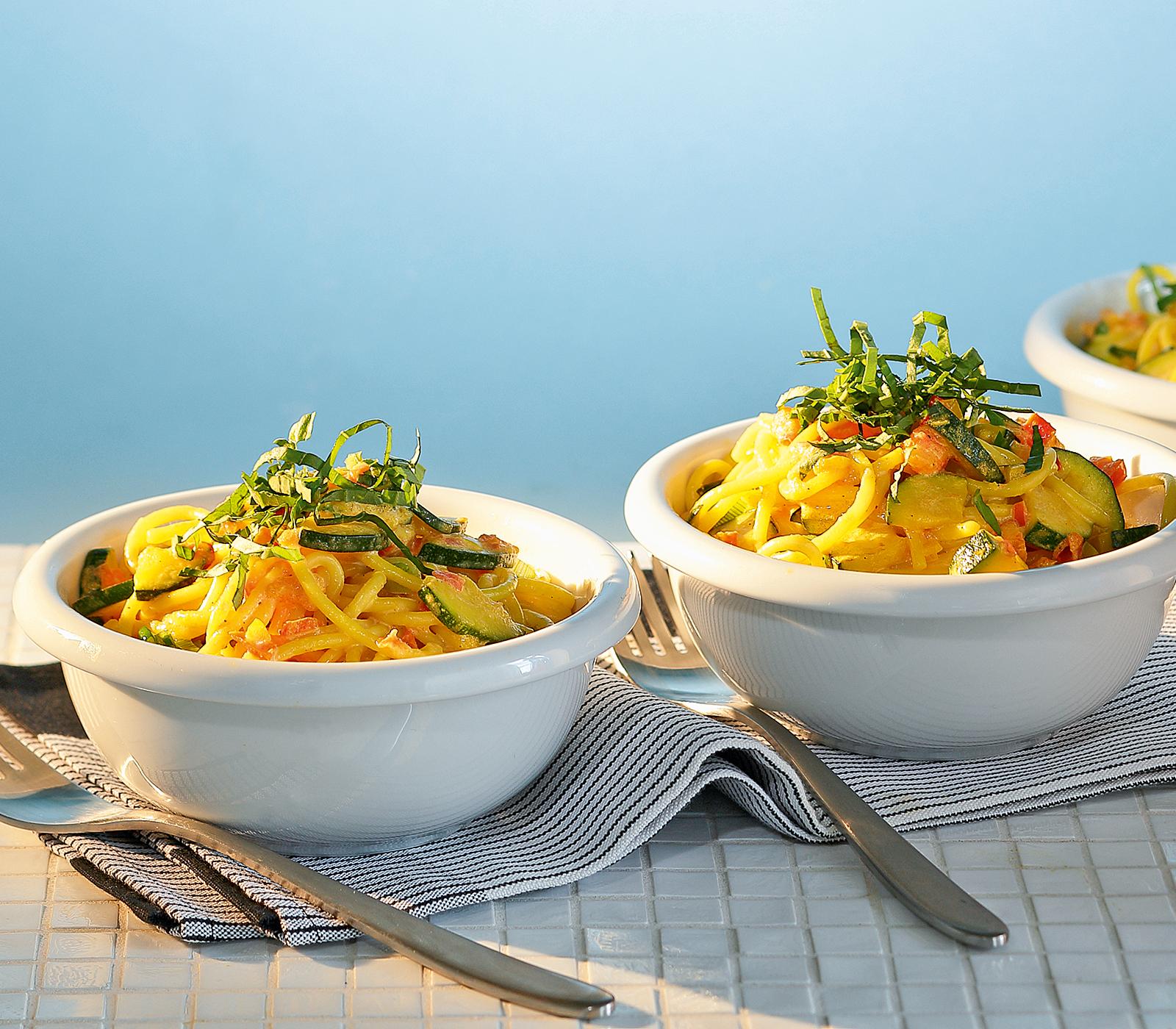 Spaghetti mit Safran-Zucchetti