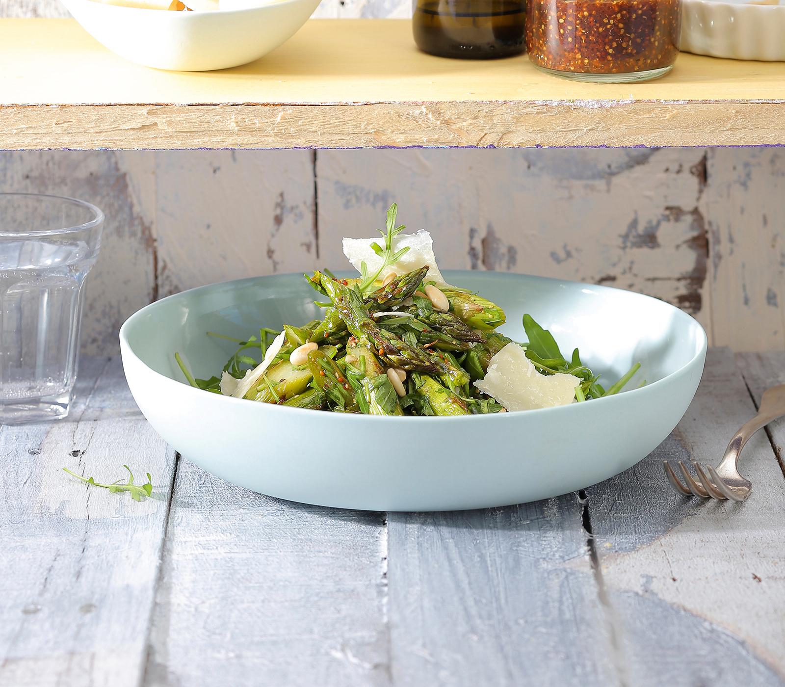 Rucola-Salat mit grillierten Spargeln - Annemarie Wildeisen's KOCHEN
