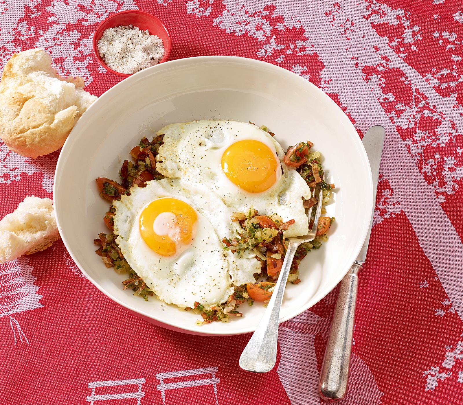 Speck zwiebel eier annemarie wildeisen 39 s kochen - Eier platzen beim kochen ...
