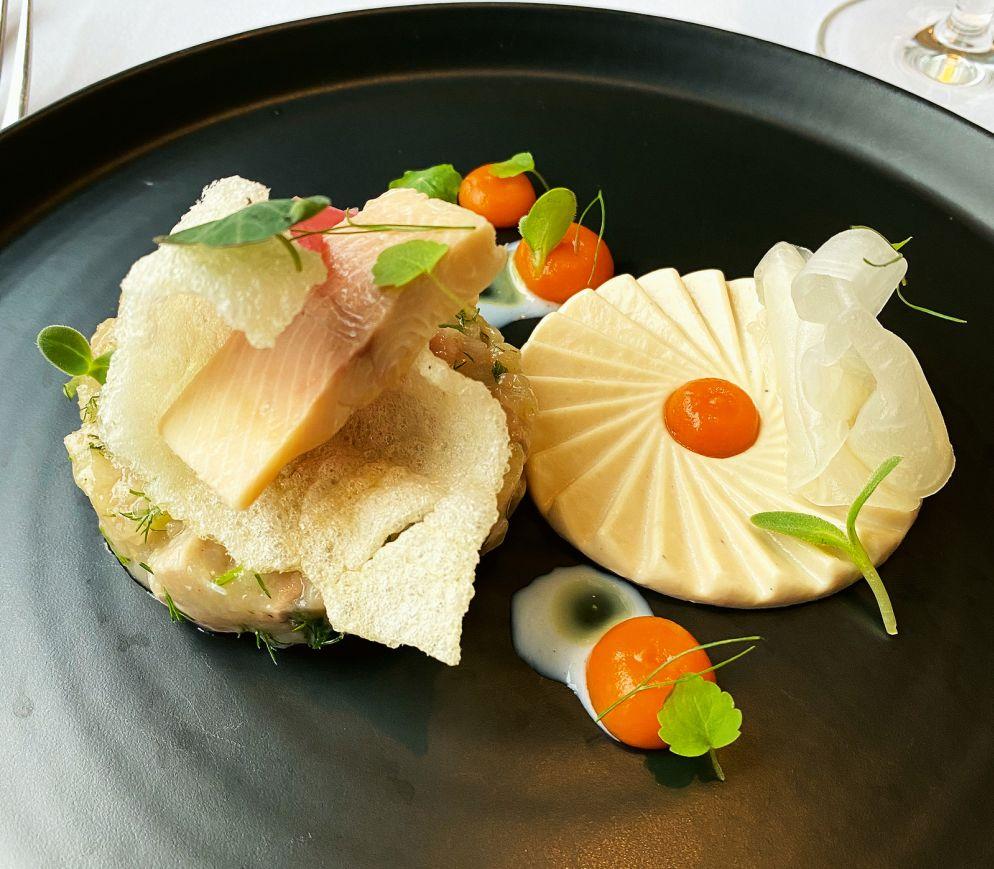 Im «Equo 1706» gibt es eine raffinierte Regionalküche; hier eine Variation von der Forelle.
