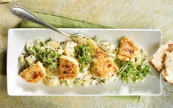 Eier gem se salat mit schinken annemarie wildeisen 39 s kochen - Gurken dekorativ schneiden ...