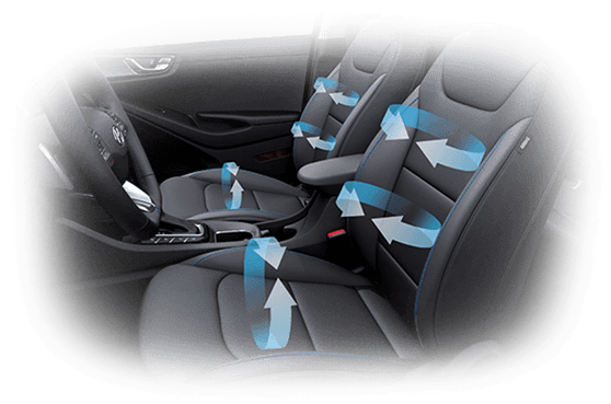 Design interior ventilated seats