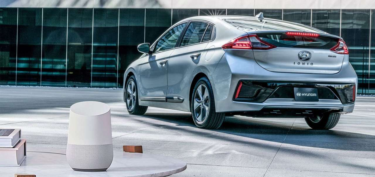 Hyundai ioniq electric and google home compressor