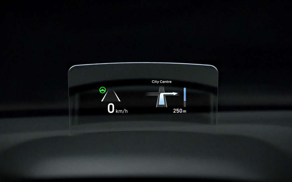 the new head-up display with class-leading luminance,