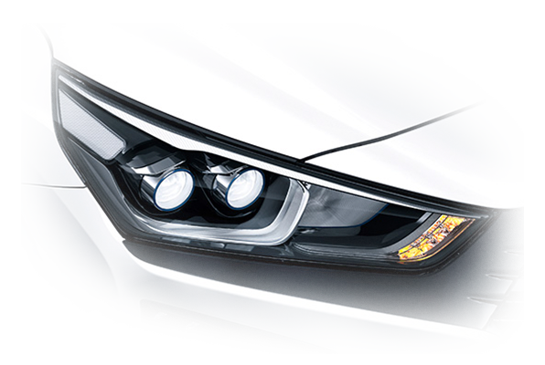 Design front led headlamps
