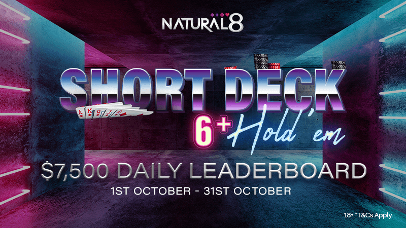 Short Deck Holdem leaderboard poker promotion