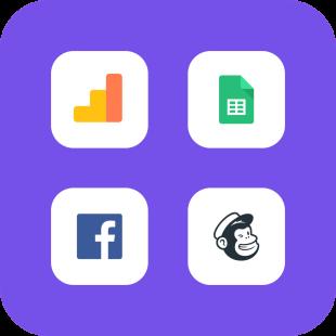 Recopile suscriptores de correo electrónico, obtenga análisis más profundos y vuelva a comercializar a su audiencia en redes sociales.