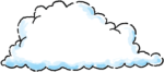 Cloud lower left