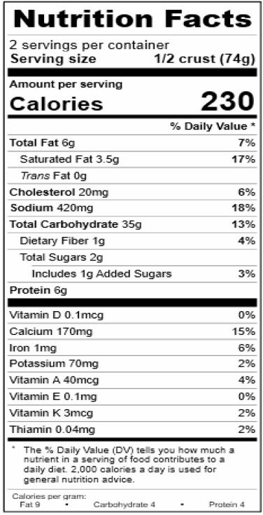 Cauliflower Nutritionals