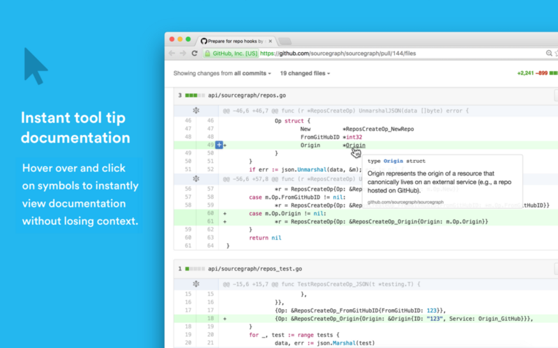 Browse & review code on GitHub like in an IDE, with the Sourcegraph Chrome extension