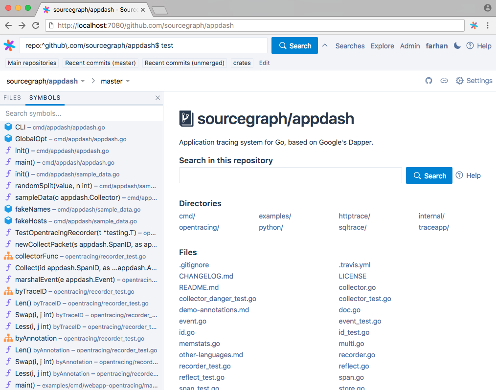 Introducing Sourcegraph Server 26 Symbol Search For 75 Languages
