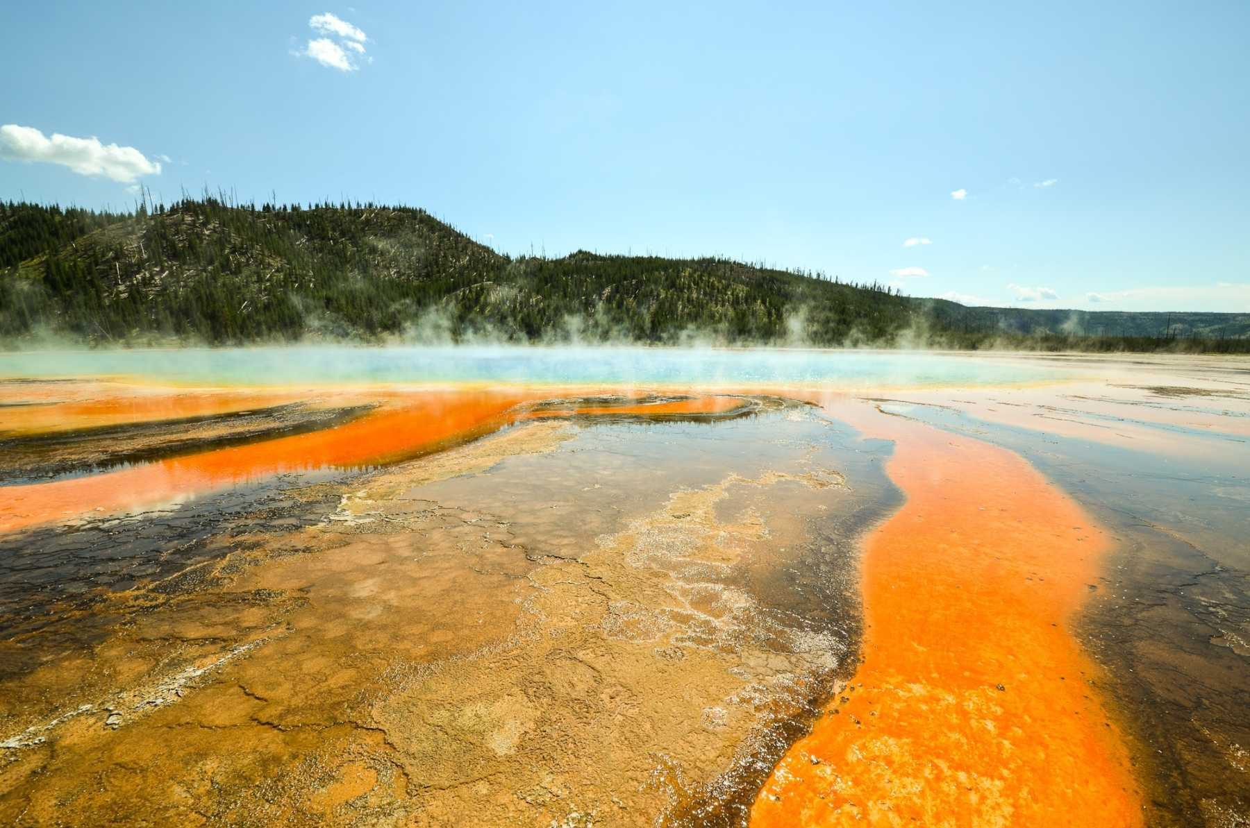 Geothermal Hot Spring in Yellowstone National Park