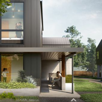 3Strands and ICON 3D-Printed Homes AustinTX 2021 Exterior Credit-LoganArchitecture