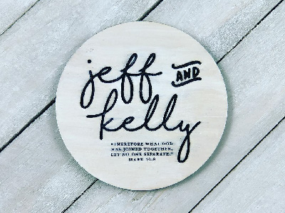 Custom Wedding Coasters Printed on Glowforge