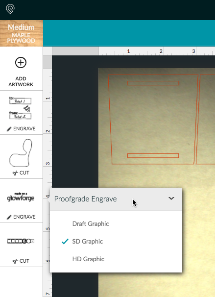 Click on Proofgrade Engrave