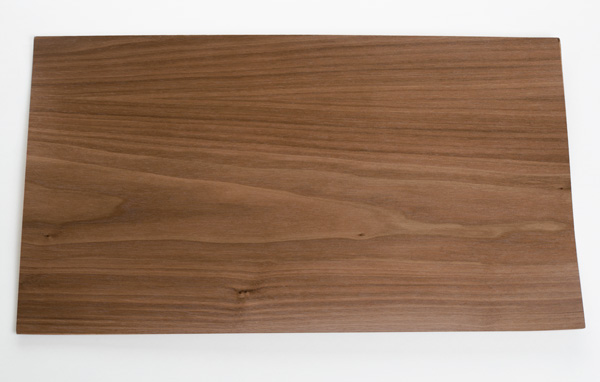 Veneer finished walnut