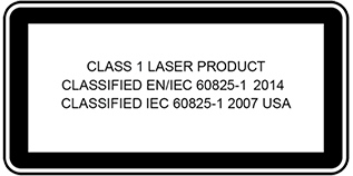 Class 1 Laser Safety Notice