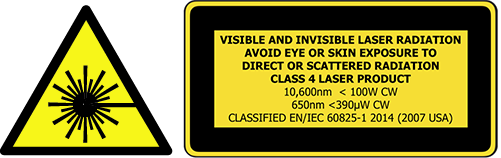 Glowforge Pro Class 4 Laser Safety Notice
