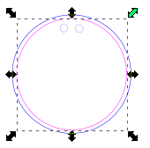 V1 Resizing Circle While Centered Inkscape Shift