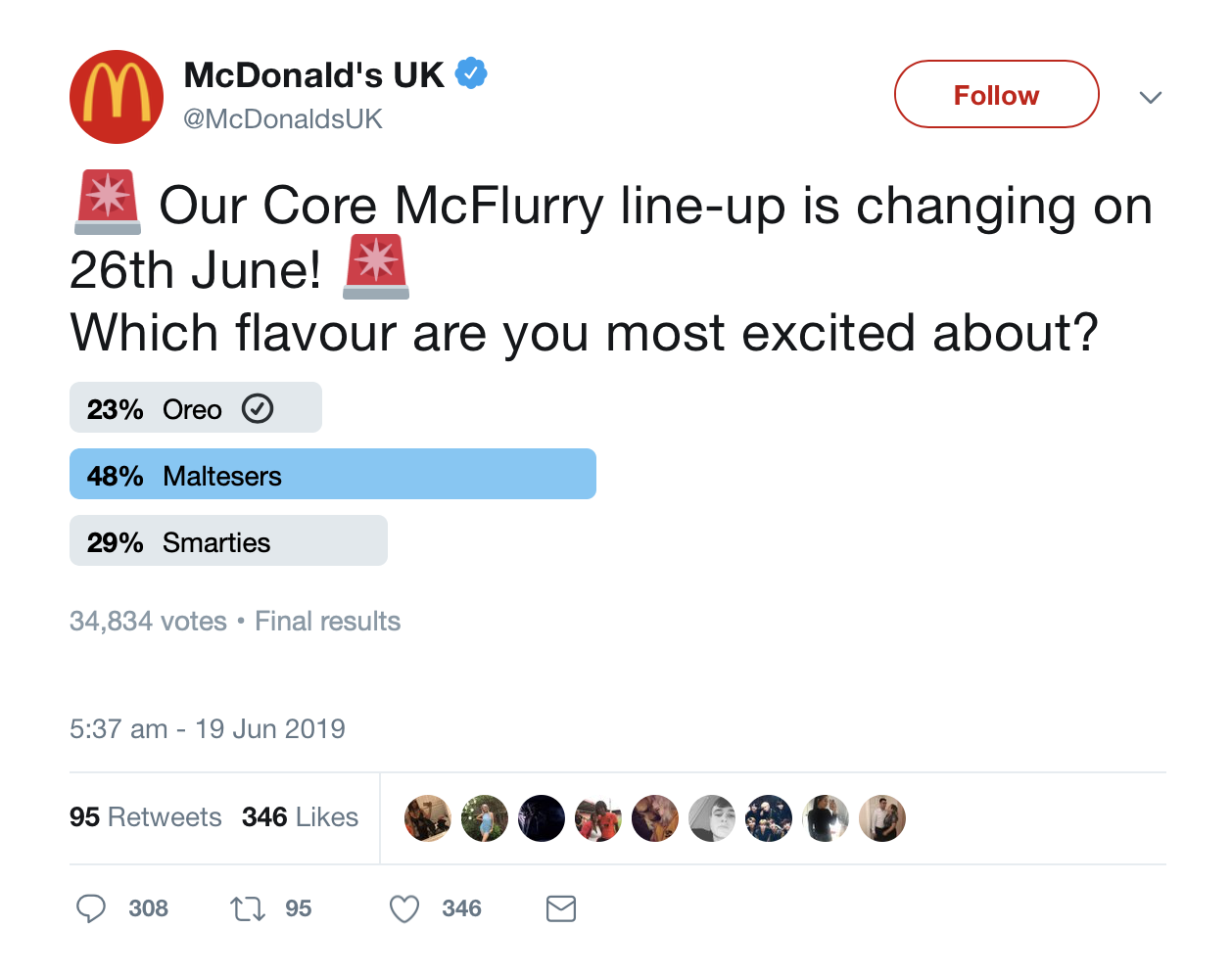 Smarties And Maltesers McFlurries Are Back At McDonald's