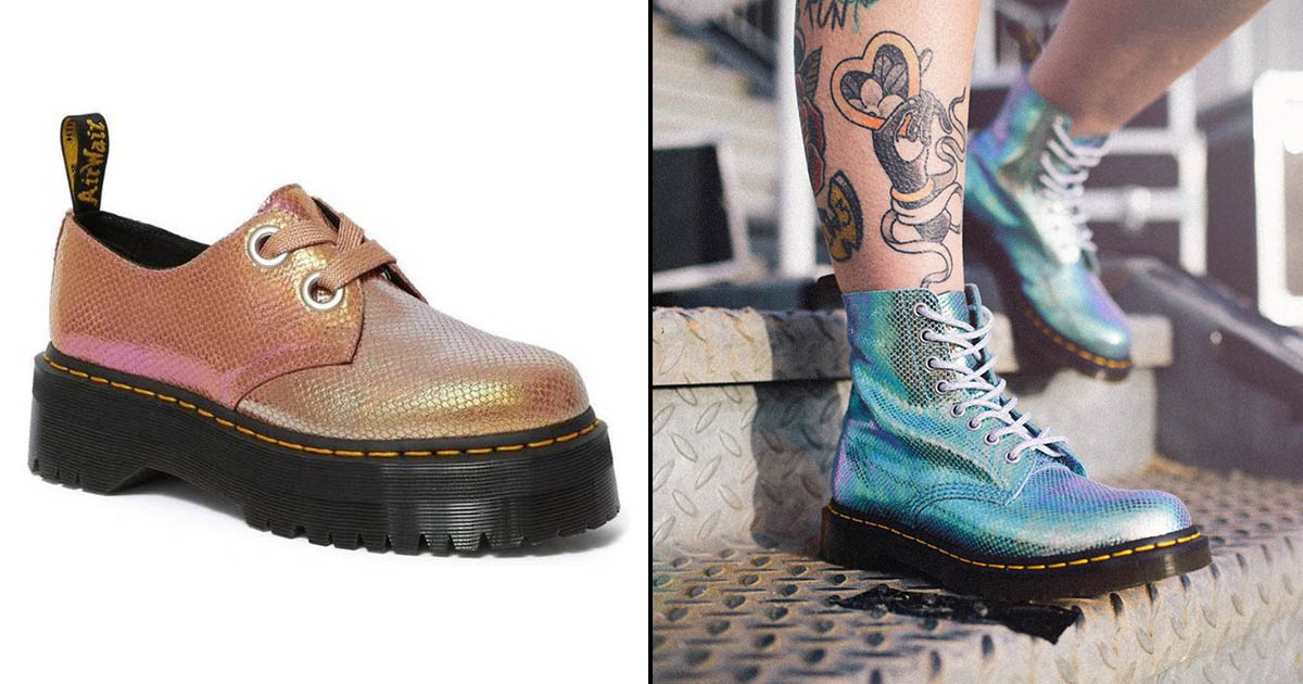 fdce0ebabc The two colour options are aquamarine blue or rose gold pink, both of which  come with that classic Doc chunky black tread which of course makes them  them ...