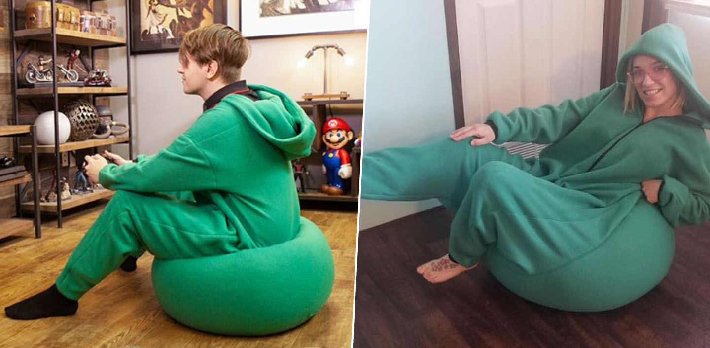Cool Someone Invented A Bean Bag Onesie So You Can Sit In Comfort Ibusinesslaw Wood Chair Design Ideas Ibusinesslaworg