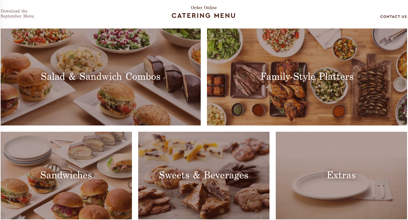 Catering Online - Choose your Feast Style