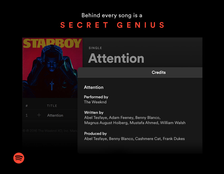 Spotify Now Displays Songwriter Credits – News – Spotify for Artists