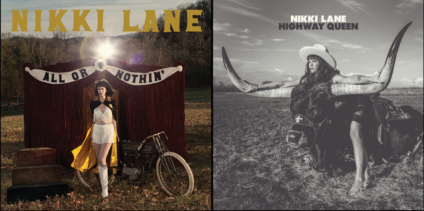 Nikki Lane, All Or Nothin' album cover; Nikki Lane, Highway Queen album cover